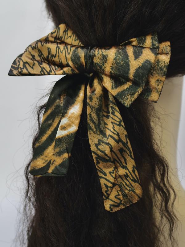 Joadre African inspirierte Haar Scrunchie mit Schleife