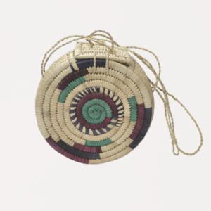 Runde Umhängetasche aus Rattan Tasche Slow Fashion